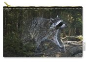 Racoon Emerging From The Woods Carry-all Pouch