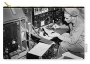 Radio Operator Operates His Scr-188 Carry-all Pouch by Stocktrek Images