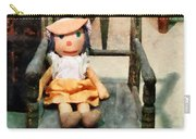 Rag Doll In Chair Carry-all Pouch