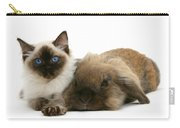 Ragdoll Kitten And Lionhead Rabbit Carry-all Pouch