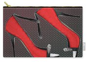 Raging Red Open Toed Stilettos Carry-all Pouch