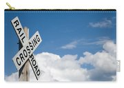 Railroad Crossing Sign Carry-all Pouch