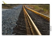 Railroad Tracks At Sundown Carry-all Pouch