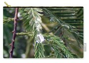 Rain Drop On Fir Tree Carry-all Pouch