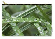 Rain Drops On Grasses Carry-all Pouch