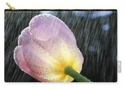 Rain Falling On A Tulip Carry-all Pouch