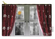 Rain On A Window With Curtains Carry-all Pouch
