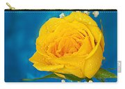 Rain On A Yellow Rose Carry-all Pouch