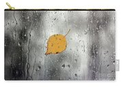Rain On Window With Leaf Carry-all Pouch