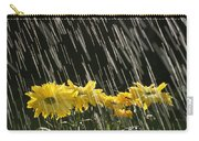 Rain On Yellow Daisies Carry-all Pouch