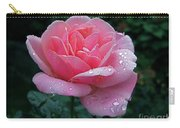 Rain Sprinkled Rose Carry-all Pouch