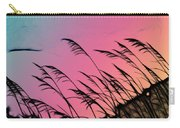 Rainbow Batik Sea Grass Gradient Silhouette Carry-all Pouch
