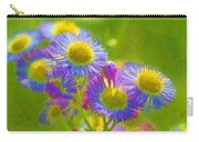 Rainbow Colored Weed Daisies Carry-all Pouch