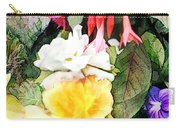 Rainbow Flower Basket Carry-all Pouch