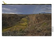 Rainbow Over The Rio Pueblo Carry-all Pouch by Ron Cline