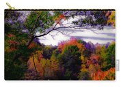 Rainbow Treetops Carry-all Pouch by DigiArt Diaries by Vicky B Fuller