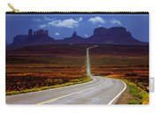 Rainclouds Over Monument Valley Carry-all Pouch