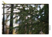 Raindrops On The Spruce Twig Carry-all Pouch