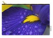 Raindrops Purple Dutch Iris Flower Carry-all Pouch