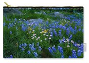 Rainier Wildflower Dawn Carry-all Pouch by Mike  Dawson