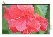 Rainy Day Hibiscus Carry-all Pouch