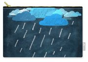 Rainy Day With Umbrella Carry-all Pouch by Setsiri Silapasuwanchai