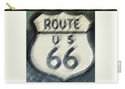 Rainy Night On Route 66 Carry-all Pouch