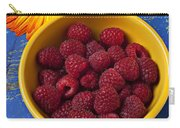 Raspberries In Yellow Bowl Carry-all Pouch
