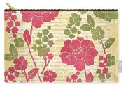 Raspberry Sorbet Floral 1 Carry-all Pouch by Debbie DeWitt