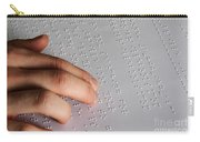 Reading Braille Carry-all Pouch by Photo Researchers, Inc.