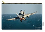 Rear View Of An Fa-18c Hornet Taking Carry-all Pouch by Stocktrek Images