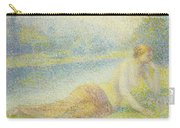 Reclining Nude Carry-all Pouch by Hippolyte Petitjean