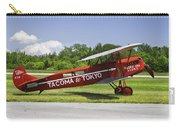 Red 1923 Fokker Civa Vintage Biplane Photo Poster Print Carry-all Pouch