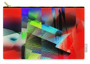 Red Abstract 1 Carry-all Pouch by Anil Nene