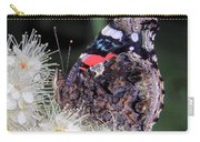 Red Admiral With Folded Wings Carry-all Pouch