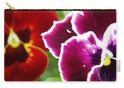 Red And Magenta Pansies Carry-all Pouch