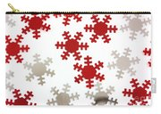 Red And Silver Snowflakes Carry-all Pouch