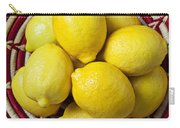 Red And White Basket Full Of Lemons Carry-all Pouch