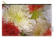 Red And White Mums Photoart Carry-all Pouch