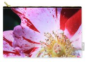 Red And White Speckled Flower Carry-all Pouch