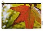 Red Autumn Leaf Carry-all Pouch