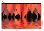 Red Autumn Leaves In Water Carry-all Pouch