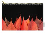 Red Autumn Leaves On Edge Carry-all Pouch