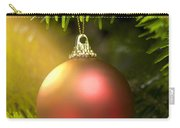 Red Ball In A Real Caucasian Fir Christmas Tree Carry-all Pouch