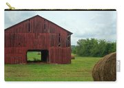 Red Barn And Hay Bales 3 Carry-all Pouch