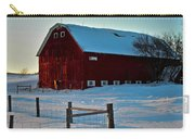 Red Barn In Winter ... Carry-all Pouch