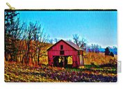 Red Barn On A Hillside Carry-all Pouch