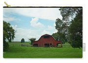 Red Barn On The Horizon Carry-all Pouch