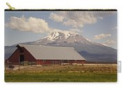 Red Barn Under Mount Shasta Carry-all Pouch