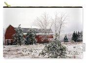 Michigan Red Barn Winter Scene Snow Landscape Carry-all Pouch